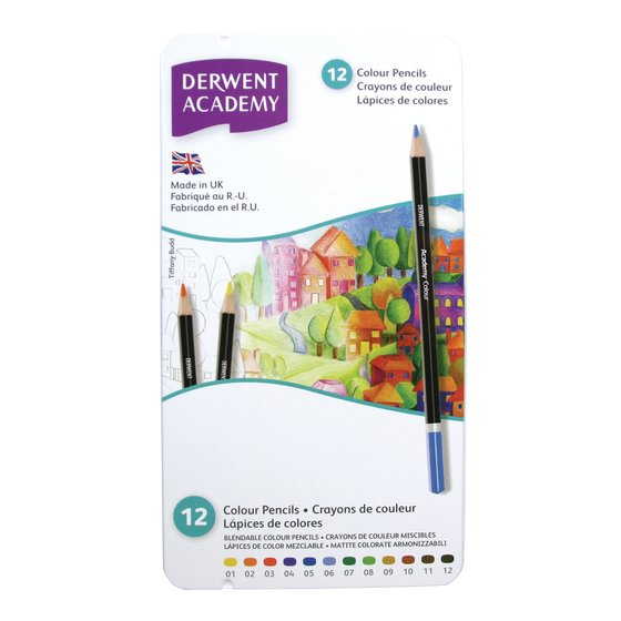 Academy Colouring 12 Tin