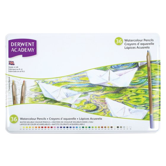 Derwent Academy Watercolour 36 Tin