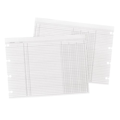"Wilson Jones® Ledger Paper, Balance Ledger, 7 1/2"" x 10 3/8"", White, 100 Sheets"