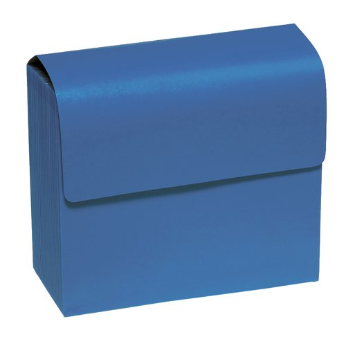 "Wilson Jones® ColorLife® Insertable 20-Tab Expanding File with Flap, 10"" x 12"", Letter Size, Blue"
