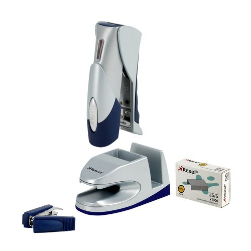 Gazelle Stapler with G-Pod 3in1 Docking System Silver/Blue