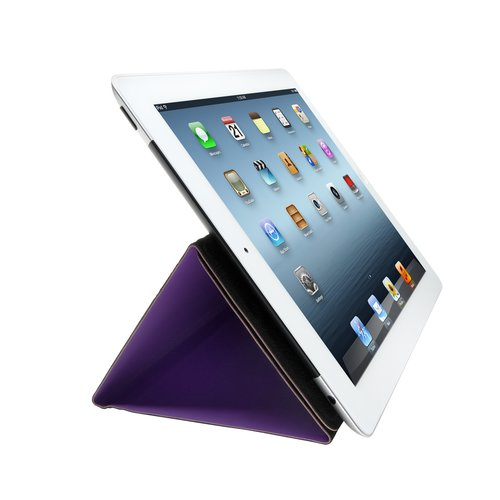Folio Expert Cover Stand for iPad® 4th & 3rd gen -Purple