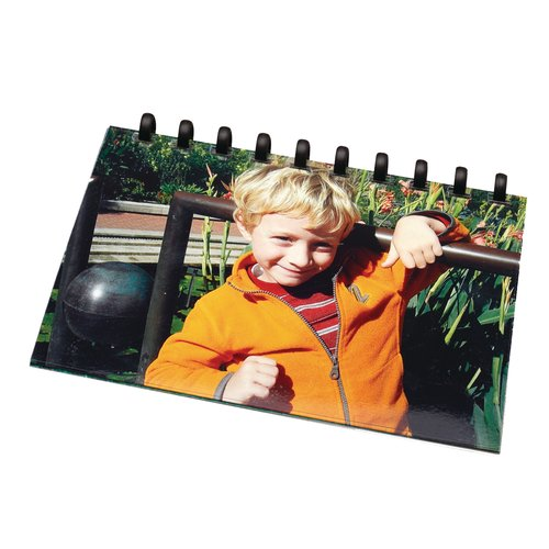 "Swingline™ GBC® ZipBind® Pre-Punched Photo Size Cover Set, 4"" x 6"", Clear/Black"