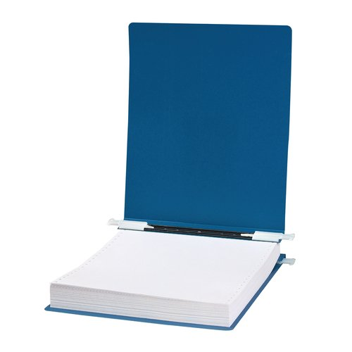 "ACCO® 23 pt. ACCOHIDE® Covers with Storage Hooks, For Unburst Sheets, 11"" x 8 1/2"" Sheet Size, Blue"