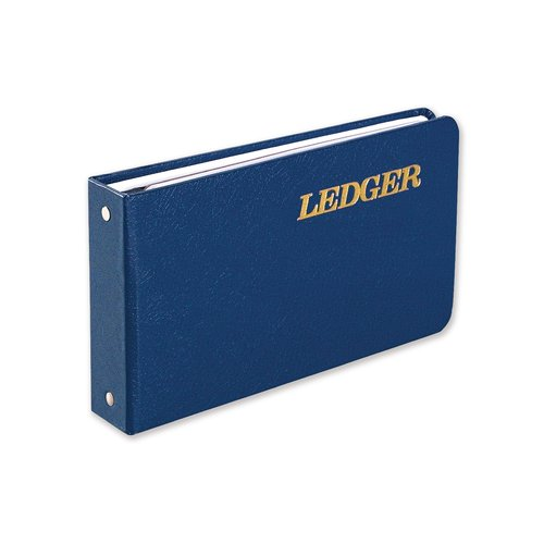 "Wilson Jones® Ring Ledger Outfit, Complete System, 5 1/2"" x 8 1/2"", Blue"