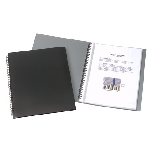 Display Book 30 Pockets A4 Black
