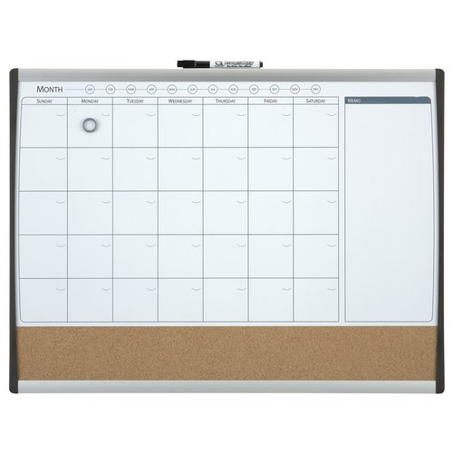 Quartet Magnetic Monthly Organiser Combi Board 585x430mm