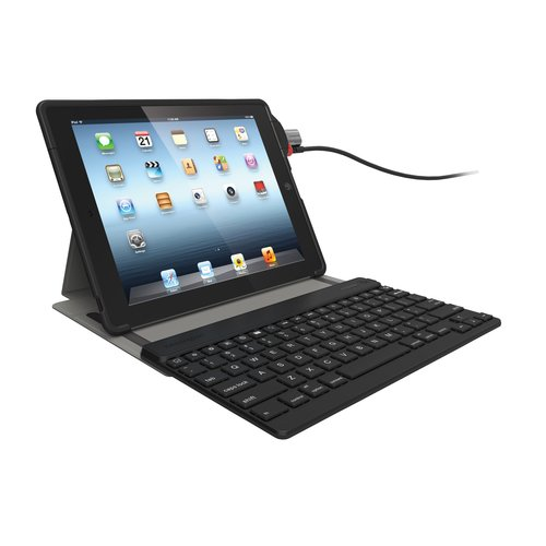 KeyFolio™ SecureBack™ iPad® Protective Case, Bluetooth® Keyboard & ClickSafe® Keyed Lock