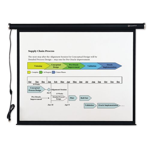 "Quartet® Electric Projection Screen, 70"" x 70"", High-Res"