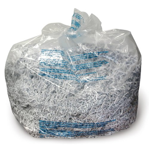 Swingline® 6-8 Gallon Plastic Shredder Bags, For Small Office, Executive, 60X, 80X, 100X, 200X & 100M Shredders, 100/Box