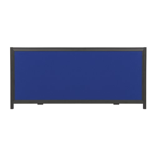 "Quartet® Show-It! Display System Header Panel, 24"" x 10"",  Double-sided, Blue/Gray"