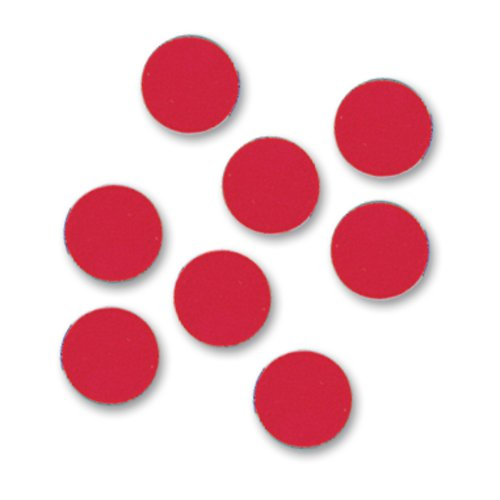 "Quartet® Magnetic Circles, 3/4"" Diameter, Red, 20/Pack"