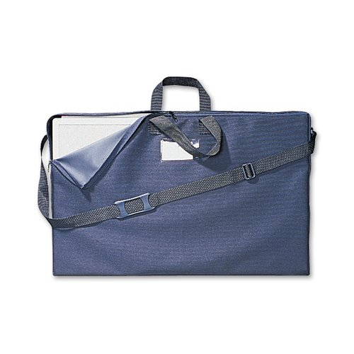 Quartet® Tabletop Display Carrying Case, 6' x 2 1/2', Black Canvas,  Handles