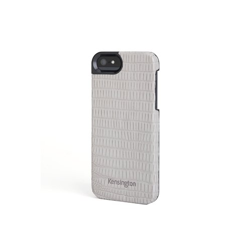 Leather Texture Case for iPhone® 5 - Gray Lizard