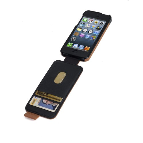 Portafolio™ Flip Wallet for iPhone® 5/5s - Tan Nappa