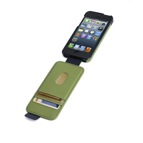 Portafolio™ Flip Wallet for iPhone® 5 - Green/Blue