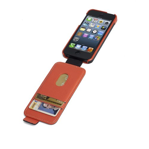 Portafolio™ Flip Wallet for iPhone® 5 - Black/Orange