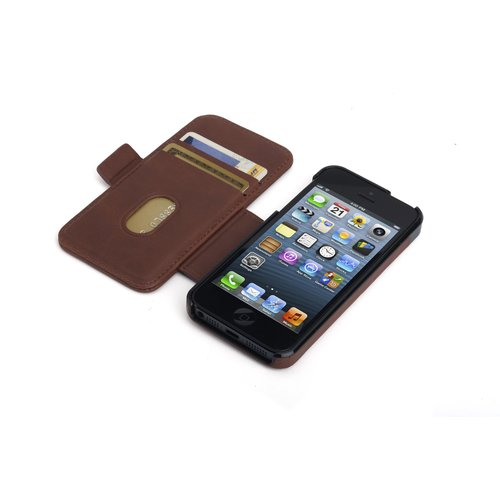 Portafolio Duo™ Wallet for iPhone® 5 - Brown Marble