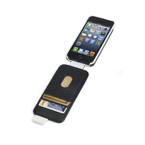 Portafolio™ Flip Wallet for iPhone® 5 - Black Snake