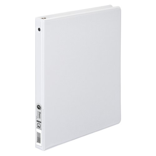 "Wilson Jones® 362 Basic Round Ring View Binder, Vinyl, 1/2"", White"