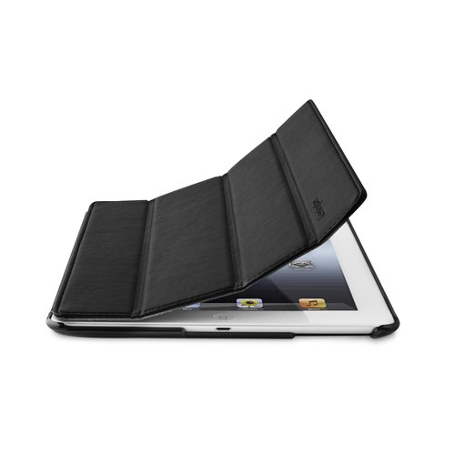 TriFold Folio Case for the iPad - Black Marble