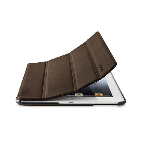 TriFold Folio Case for the iPad - Brown Marble