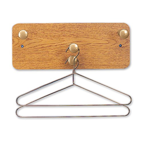 "Quartet® Wall Rack, 7"" x 18"", Four Posts, Oak Finish"