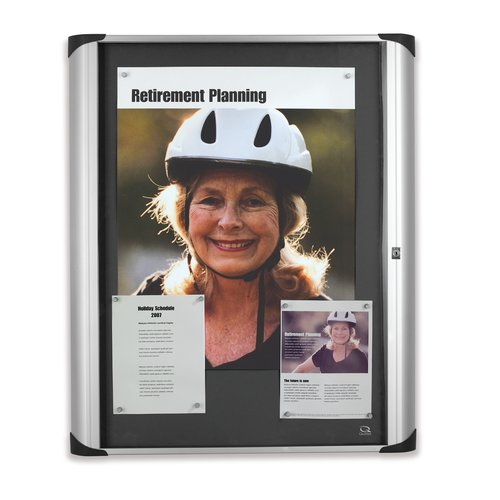 Quartet® Euro™ Enclosed Magnetic Bulletin Board, 2' x 3', Outdoor Use, Aluminum Frame