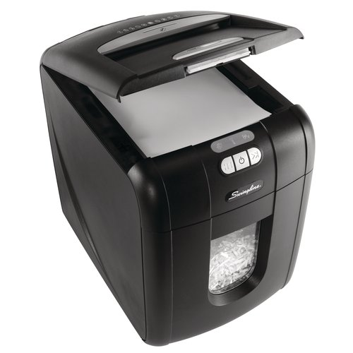 Swingline® Stack-and-Shred™ 100X Hands Free Shredder, Cross-Cut, 100 Sheets, 1-2 Users