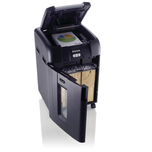 Swingline® Stack-and-Shred™ 500X Hands Free Shredder, Super Cross-Cut, 500 Sheets, 10-20 Users