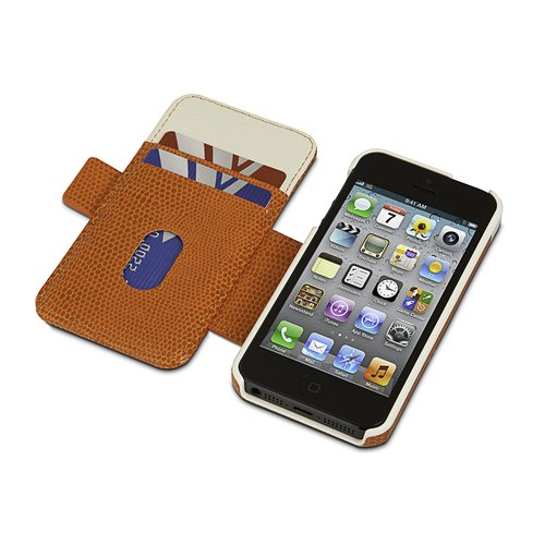 Portafolio Duo™ Wallet for iPhone® 5 - Orange/Cream
