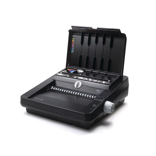 "Swingline™ GBC® CombBind® C450E Precision Punch Electric Binding System, Binds 500 Sheets, Punches 25, 2"" Max Spine"