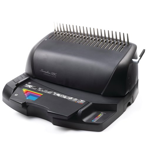 "Swingline™ GBC® CombBind® C210E Electric Binding Machine, Binds 330 Sheets, Punches 20, 1 1/2"" Max Spine"