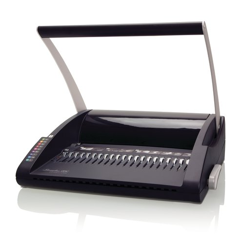 "Swingline™ GBC® CombBind® C12 Manual Binding Machine, Binds 225 Sheets, Punches 12, 1"" Max Spine"