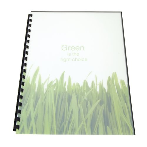 Swingline™ GBC® 100% Recycled Poly Covers, Square Corners, Frost, 25 Pack