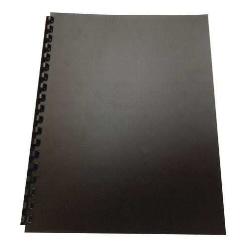 GBC Recycled Poly Presentation Covers, 8.5 x 11 -Inches, Square Corners, Black, 25 Covers per Pack (25818)