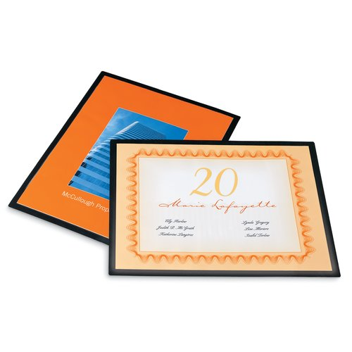GBC® HeatSeal® UltraClear™ Black Frame Thermal Laminating Pouches, Letter Size, 5 mil, 25/Pack