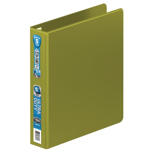 "Wilson Jones® Ultra Duty D-Ring Binder with Extra Durable Hinge,  1 1/2"", Army Green"