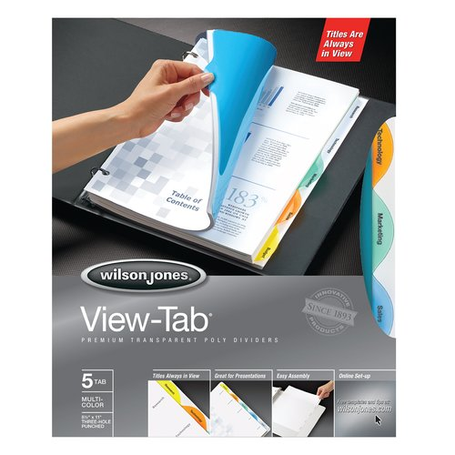 Wilson Jones® View-Tab® Transparent Dividers