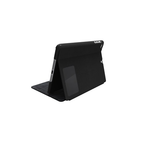 Comercio™ Hard Folio Case & Adjustable Stand for iPad® Air - Textile Black