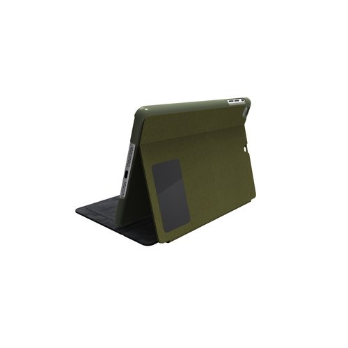 Comercio™ Hard Folio Case & Adjustable Stand for iPad® Air - Olive