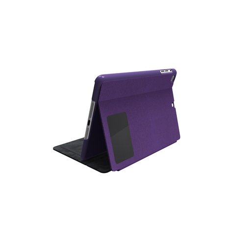 Comercio™ Hard Folio Case & Adjustable Stand for iPad® Air - Purple