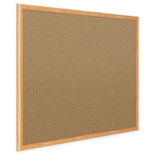 Mead® Classic Cork Bulletin Boards, Oak Finish Frame