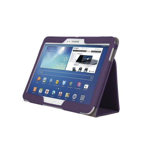 Etui pliant souple avec support Comercio™ pour tablette Galaxy® 3 10.1 - Prune