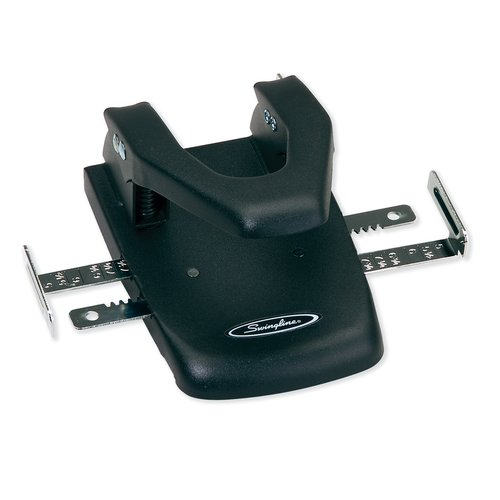"Swingline® Automatic Centering 2-Hole Punch, 1/4"" Hole Size, 22 Sheets"