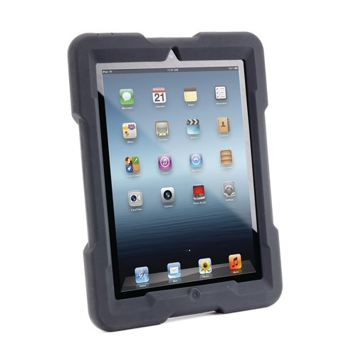 SecureBack™ M Series Rugged Case Enclosure for iPad® 4/3/2 — Black