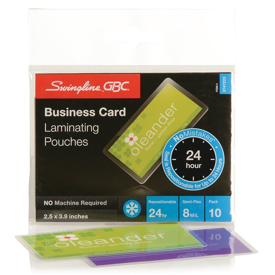 Swingline GBC SelfSeal NoMistakes Cold Laminating Pouches