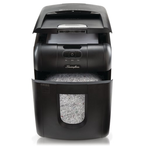 Swingline® Stack-and-Shred™ 100M Hands Free Shredder, Micro-Cut, 100 Sheets, 1-2 Users