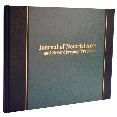 "Wilson Jones® Journal of Notarial Acts, 8 5/8"" x 11 1/8"", 18 Lines, 90 Pages"