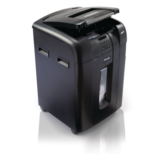Swingline® Stack-and-Shred™ 500M Hands Free Shredder, Micro-Cut, 500 Sheets, 10-20 Users